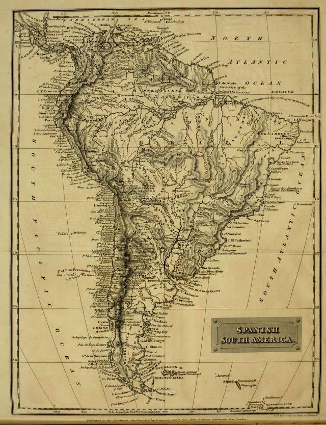 Richard Henry Bonnycastle A Small 1819 Spanish America Or