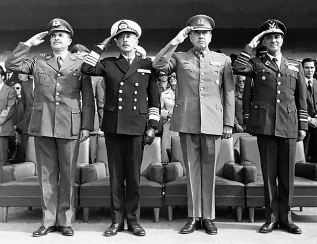 Members of the Military Junta with Augusto Pinochet