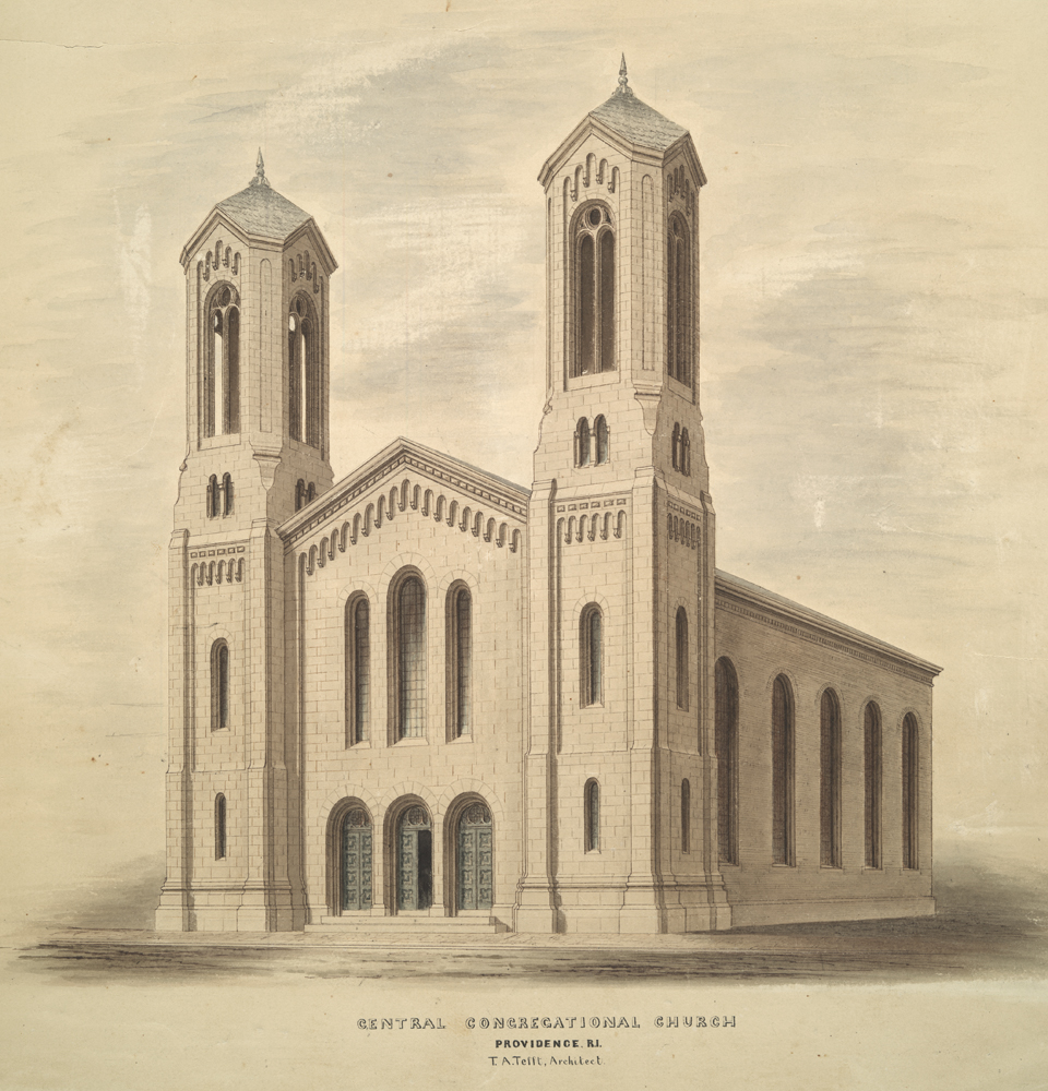Tefft's design for Central Congregational Chuch, now RISD's Memorial Hall.