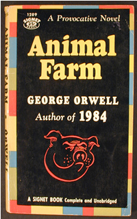 "What novelist and essayist wrote ""Animal Farm"", a biting satire of Communist ideology, in 1945?"