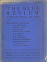 cover page of The Blue Review