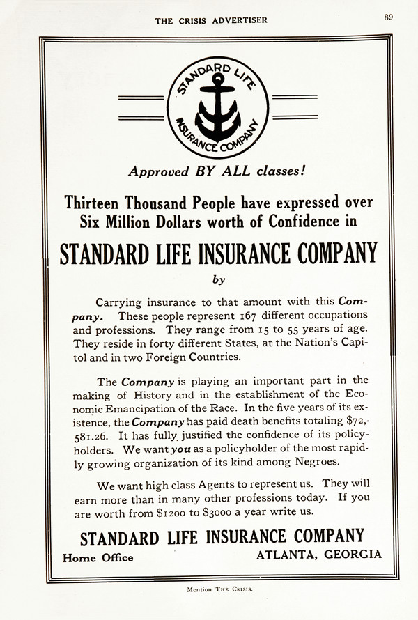 Advertisement: Standard Life Insurance Company